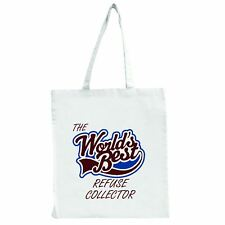 The Worlds Best Refuse Collector - Large Tote Shopping Bag