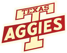 Texas A&M University 1960's VintageLooking Souvenir Sticker travel Decal Aggies