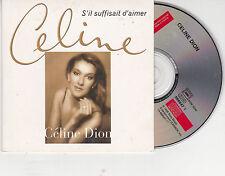 CD CARTONNE CARDSLEEVE 2T CÉLINE DION S'IL SUFFISAIT D'AIMER (GOLDMAN) 1998