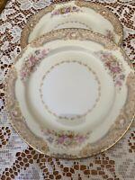 NORITAKE China, M, Vintage , LOTUS #4706. Set Of 2 Bread Plates. Beautiful!