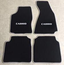 Autoteppiche Fußmatten für Audi 80 B4 Cabrio 1992-00 schwarz-silber nicht orig.