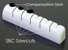 GuitarTechs Compensated / SBC Concept BONE NUT Made for Epiphone Guitar LP SG...