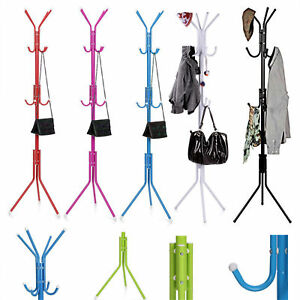 Coat Stand Coat/Hat/Jacket/Umbrella Floor Standing Rack Clothes Hanger Hooks