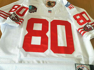 SF 49ers #80 JERRY RICE Throwback 2 Patch all sewn Jersey White XL NWT