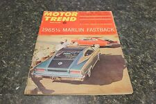 MOTOR TREND 1964 1/2 MARLIN FASTBACK MARCH 1965 VOL.17 #3 9248-1 [LOC.ELK] #374