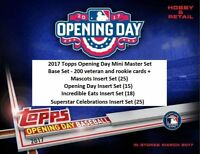 2017 TOPPS OPENING DAY MASTER SET 283 CARDS - 4 INSERT SETS w  JUDGE RC