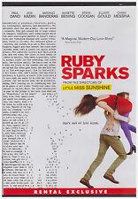 RUBY SPARKS (DVD, 2012) RENTAL EXCLUSIVE