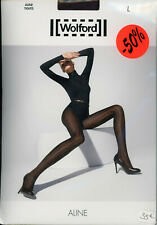 Collant WOLFORD ALINE Tights – Taille L – Couleur Caviar - Neuf