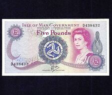 Isle of Man 5 Pounds 1979  P-35b  Large 'D'  VF