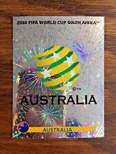 AUSTRALIA TEAM PANINI FOIL STICKER, WORLD CUP SOUTH AFRICA 2010 #SA278