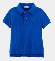 Ralph Lauren Boys Junior Teens Kids Short Sleeve Polo Shirt Top - Spa Royal Blue