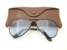 Vintage B&L Ray Ban Bausch & Lomb Blue Changeables 58mm Leather Aviator w/Case