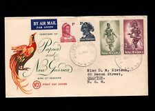Papua & New Guinea Port Moresby 1st Day 1960 (4) Island People Cover 5l