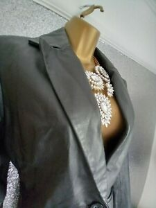 Ladies Fitted Smart Suit Leather Jacket 10