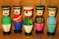 Christmas Tree Ornament Mikhail Kutuzov & Soldiers 5 Russian Dolls