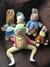 PETER RABBIT plush EDEN Lot Of 5 frog toad jemima puddleduck Benjamin potter