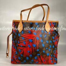 Auth Louis Vuitton Palm Springs Neverfull MM Monogram Canvas Shoulder Tote Bag
