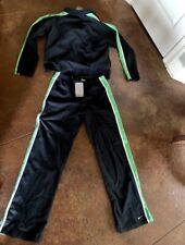 Nike Vintage Retro Womens Track Suit Pants Jacket Medium Black Green Nwt