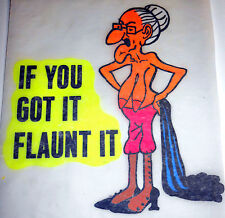 "Vintage ""IF YOU GOT IT FLAUNT IT"" Iron-on Transfer"