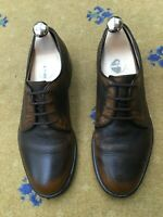 Gucci Mens Shoes Brown Leather Lace Up UK 6.5 US 7.5 EU 40.5 Shaded