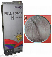 Hair COLOR Permanent Dye Goth Emo Cosplay Punk Glam BLONDE SILVER GREY 0.11