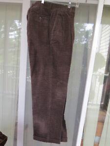 BRAGGI BY LOUIS RAPHAEL Brown CORDUROY Pants Men SIZE  W36 X L32 New w/tags