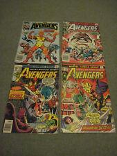 The Avengers Marvel Comics Lot of (4) Issues #139, 168, 229 & 258