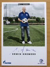 Erwin Kremers Ak FC Schalke 04 Autograph Card 2018-19 Original Signed 3