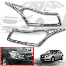 COVER HEAD LIGHT FRONT LAMP CHROME FIT FOR CHEVROLET CRUZE 2011 12 13 14