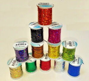 Veniard Fly Tying Holographic Tinsel Spool  Material Small /Medium /Large