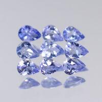 4x3mm Lot 1,2,6,10pcs Pear Cut Calibrated Natural Gem Violet Blue Tanzanite
