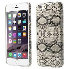 Coque arrière aspect serpent en relief iPhone 6s Plus coloris blanc et noir