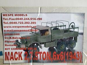 Wespe Models Mack 2, 7.5 Ton 6x6 (1943), 1/35th scale full resin kit, RARE, OOP!