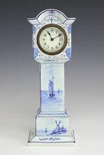 Austrian Hand Painted Porcelain Miniature Long Holster Clock New Haven