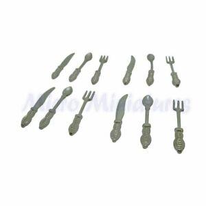 Dolls House Twelve Piece Cutlery Set 1/12th Scale (01067)