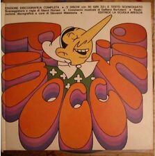 Pinocchio libro illustrato Jacovitti Ed. La Scuola edizione 1971+ 5 LP.