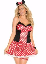 Minnie Mouse Costume 3X/4X Sexy Women Plus Cosplay Halloween Polka Dot Disney