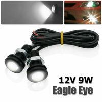 2x Car LED Eagle Eye Fog Daytime Running DRL Tail Light Backup Lamp 18mm 9W 12V