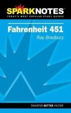 Spark Notes Fahrenheit 451, Bradbury, Ray, SparkNotes Editors, Very Good Books