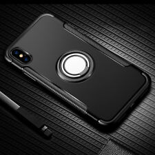 iPhone 7 X 8 Plus 6S 5 SE Shockproof Hybrid Ring Hard Armor Case Cover For Apple