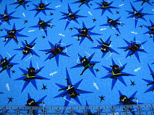 3 Yards Quilt Cotton Fabric - Timeless Treasures Ninja Star Martial Arts Blue