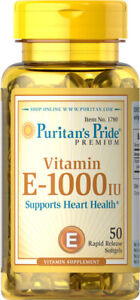 Puritan's Pride Vitamin E-1000 IU 50 Softgels