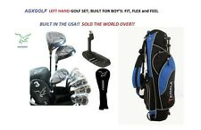 AGXGOLF BOYS LEFT HAND TWEEN NXT STARTER GOLF SET wDRIVER+3WD+HYBRID+BAG+PUTTER