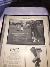 Vintage Bonwit Teller Department Store Golf Ad Country Living May 1920 Framed