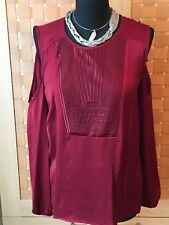 "BNWT *Beautiful ""M & S Limited Edition"" Gothic Boho Blouse (cold shoulder)  S18"