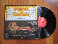 V.A. MOMENTS TO REMEMBER 2XLP HOLLAND ROCK N ROLL LLOYD PRICE FOUR ACES GAYLORDS