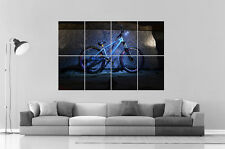 BMX BLUE FREESTYLE  Poster Grand format A0 Large Print