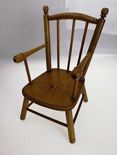 Petit fauteuil de poupée en bois ancien 1920 collection 33cm