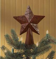 Country Metal Punched 7.5� Star Tree Topper. Wine Red. Park Designs