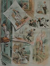 Judge Magazine. The Rope as a Hotel Fire-Escape. 1887.